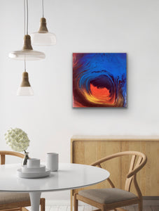 "Original Arcylic Canvas Painting ""Fire & Ice"""