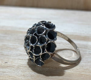 Flower 925 Sterling Silver Ring Size 9