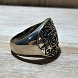 Filigree 925 Sterling Silver Ring Size 8.5