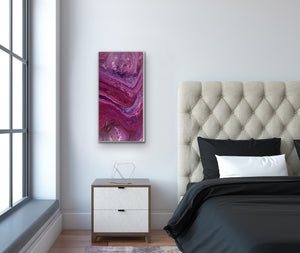 "Original Arcylic Canvas Painting ""Geode Waves"""