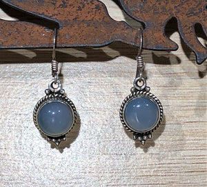 Chalcedony 925 Sterling Silver Earrings