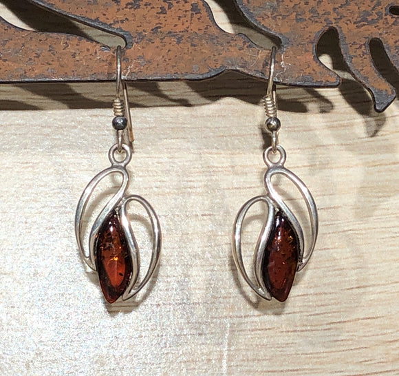 Amber 925 Sterling Silver Earrings
