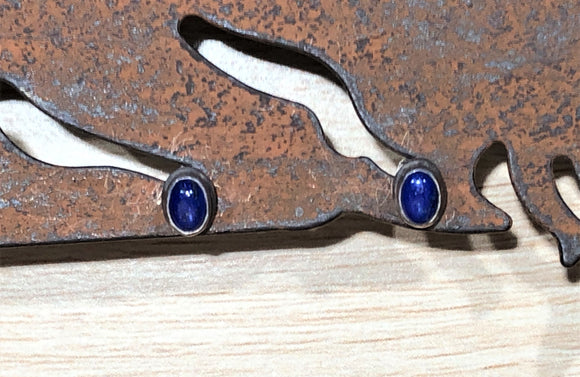 Lapis Lazuli 925 Sterling Silver Earring Studs