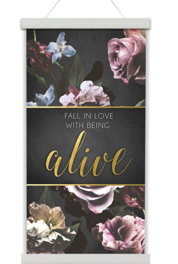 'Alive' Canvas Scroll 30x60cm