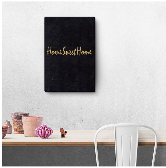 'Home Sweet Home' Canvas 20x40cm