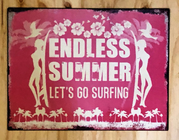 'Endless Summer' Metal Sign