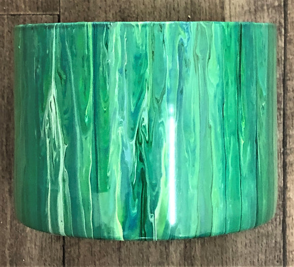 Hand Painted Glass Vase 20cm