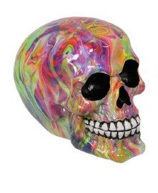 Multi Colored Skull 12cm