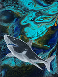 "Original Arcylic Canvas Painting ""Ocean Predator"""