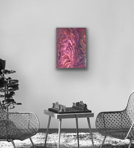 "Original Arcylic Canvas Painting ""Onda Rosa"""