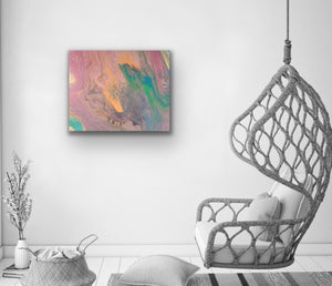 "Original Arcylic Canvas Painting ""Pastel"""