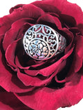 Round Sterling Silver Ring Size 8.5