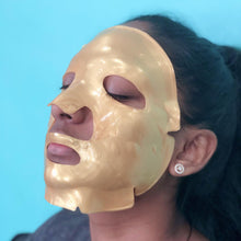 Load image into Gallery viewer, 24K Gold Collagen Face Mask