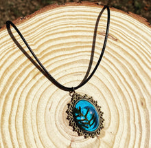 Load image into Gallery viewer, Turquoise fern pendant