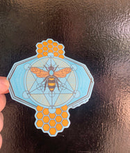 Load image into Gallery viewer, Original illustration geometric bee sticker