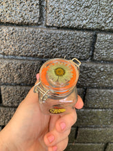 Load image into Gallery viewer, Mini glass stash jar with real butterfly wings and pressed flower