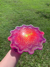 Load image into Gallery viewer, Sparkly neon mandala tray