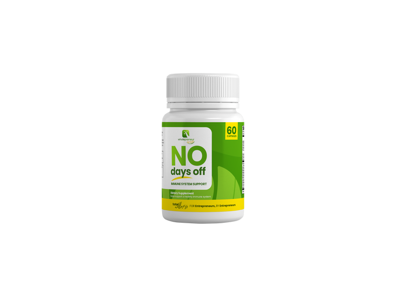 """No Days Off"" Immune Support"