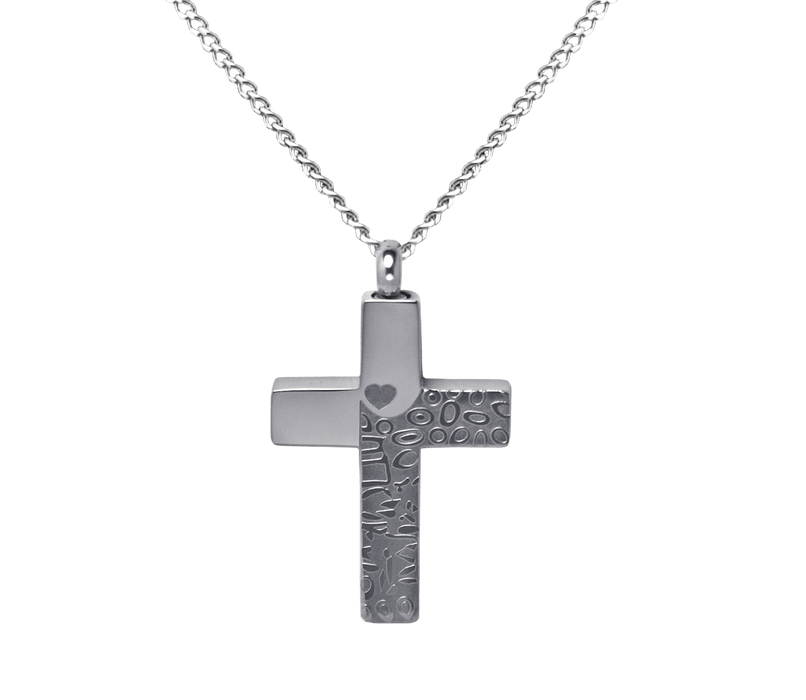 Tone on Tone Cross Pendant