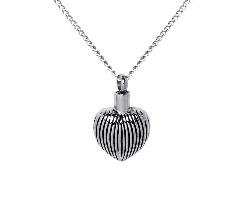 Ribbed Heart Pendant