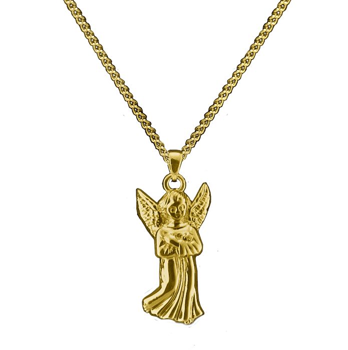 Brass Guardian Angel Pendant