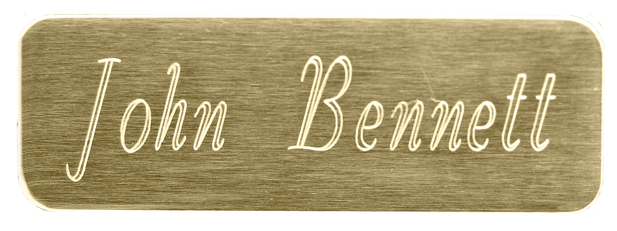 Nameplate With Rounded Corners