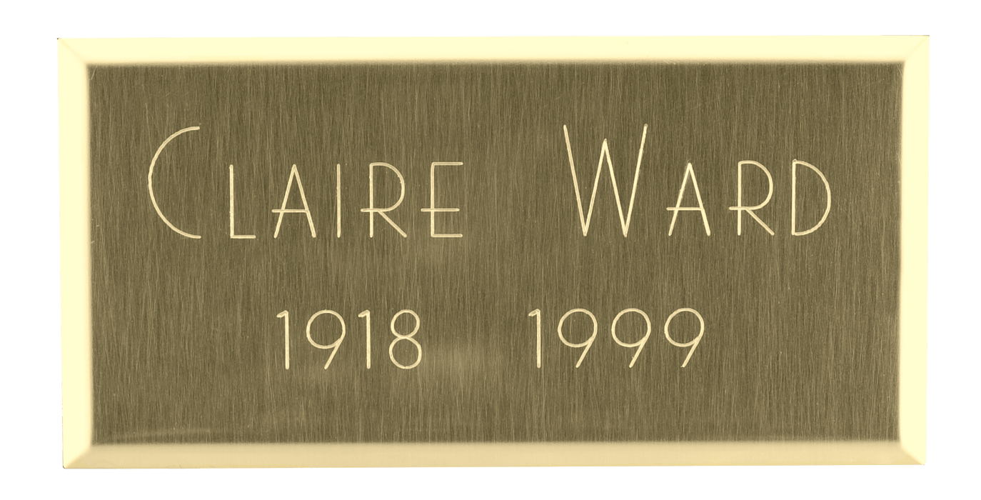 Rectangle Brass Nameplate