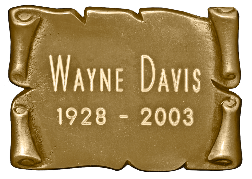 Square Bronze Scroll Nameplate