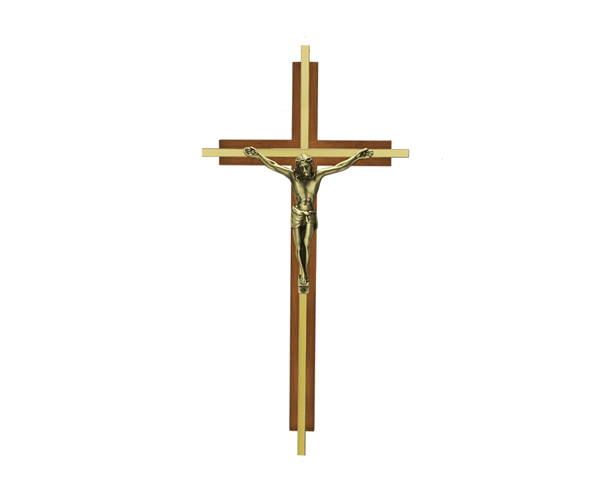 Inlaid Traditional Crucifix