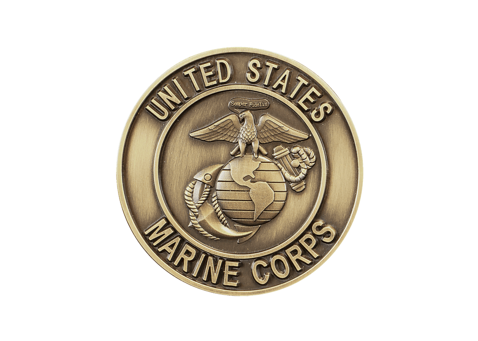 Marines Bronze Applique