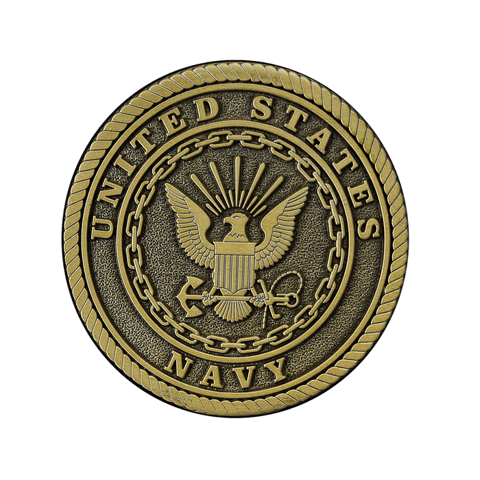 Navy Bronze Applique