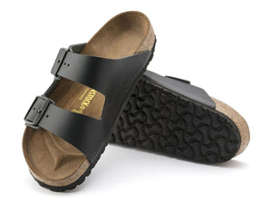 Birkenstock Arizona - Black Natural Leather