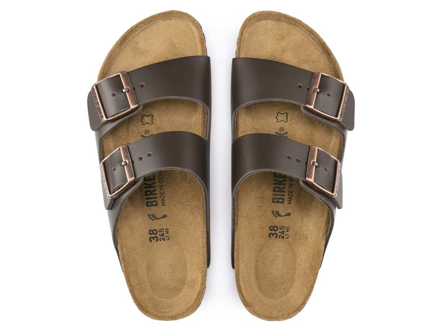 Birkenstock Arizona - Dark Brown Natural Leather