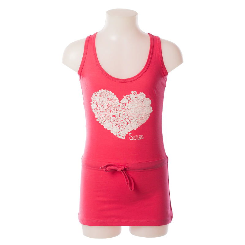 Lace Heart Scotland Girls Dress