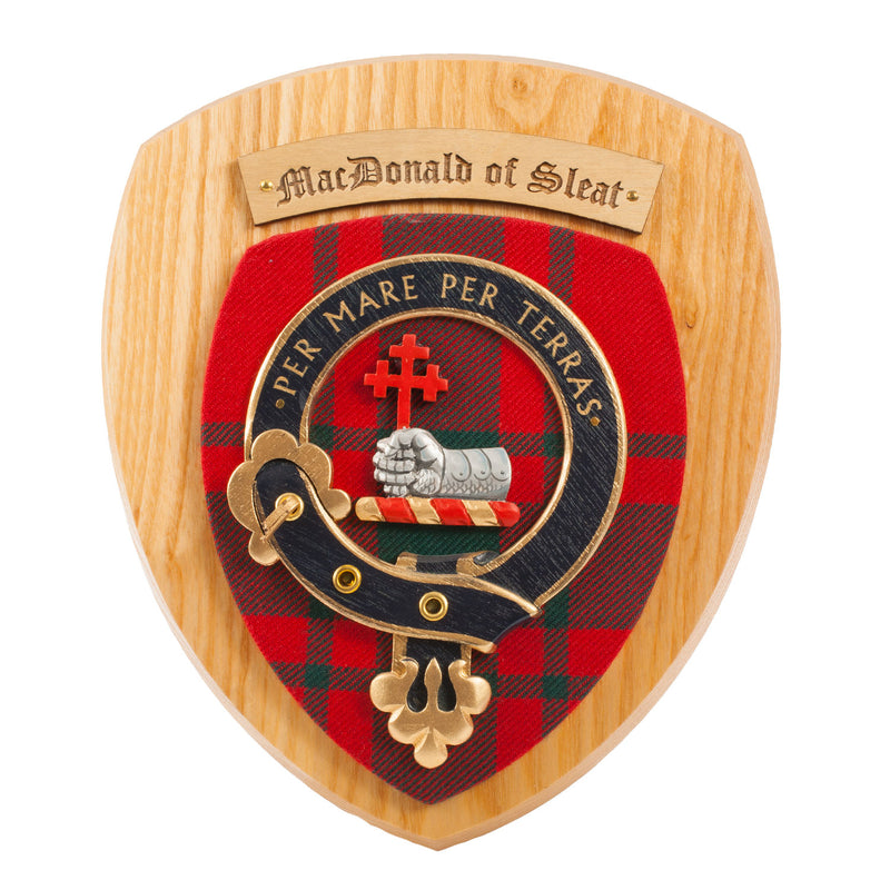 Clan Wall Plaque Macdonald Of Sleat