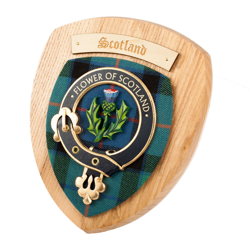 Clan Wall Plaque Scotland Flower
