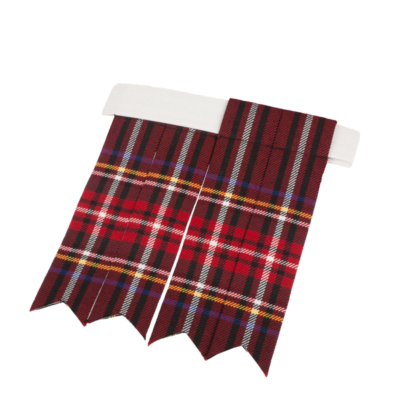 Heritage Of Scotland Adults Tartan Kilt Flashes Stewart Black