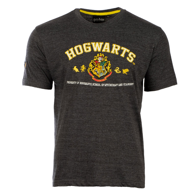 Harry Potter - T-Shirt - Hogwarts Quidditch Charcoal/White