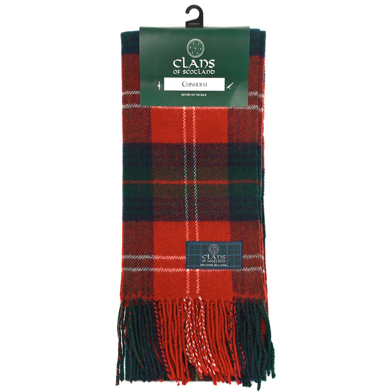 Lambswool Scottish Tartan Clan Scarf Chisholm