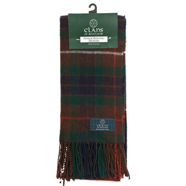 Lambswool Scottish Tartan Clan Scarf Fraser Hunting