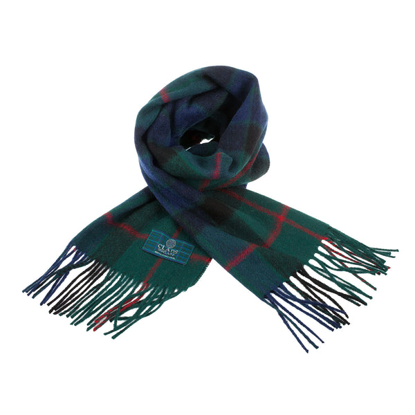 Lambswool Scottish Tartan Clan Scarf Gunn