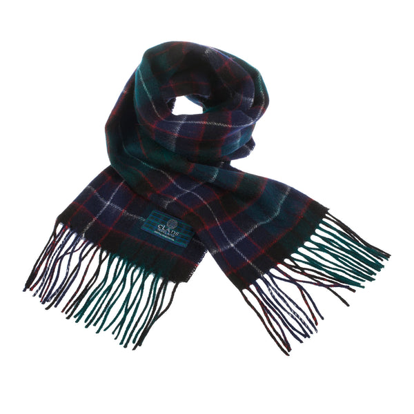 Lambswool Scottish Tartan Clan Scarf Hunter