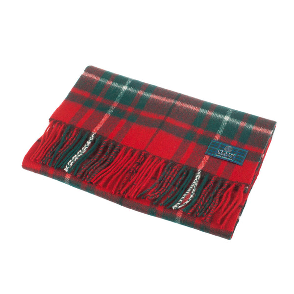 Lambswool Scottish Tartan Clan Scarf Macaulay Red