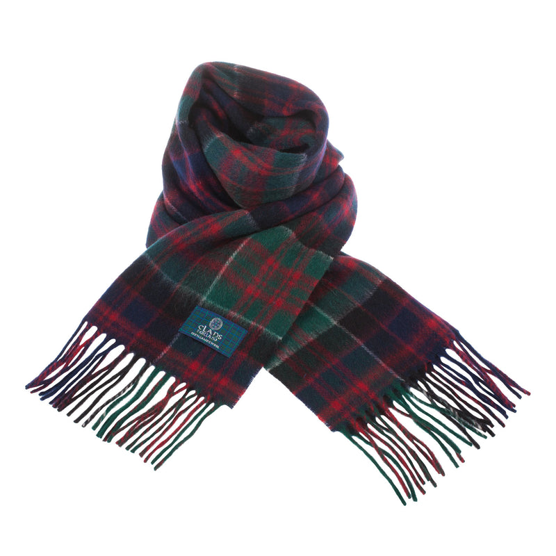 Clans Of Scotland Pure New Wool Scottish Tartan Scarf Macdonald Of Clanranald