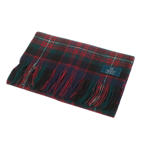 Lambswool Scottish Tartan Clan Scarf Macdonald Of Glengarry