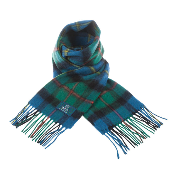 Lambswool Scottish Tartan Clan Scarf Macleod Of Harris Ancient