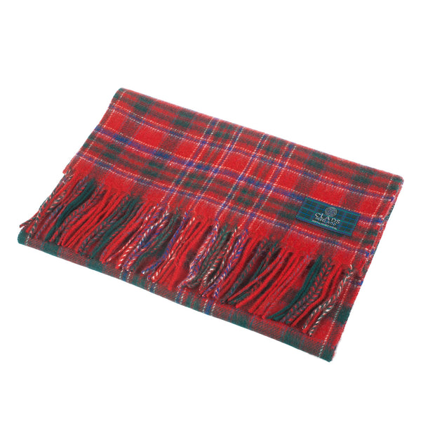 Lambswool Scottish Tartan Clan Scarf Macalister