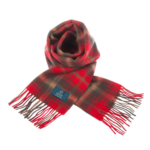 Lambswool Scottish Tartan Clan Scarf Maple Leaf