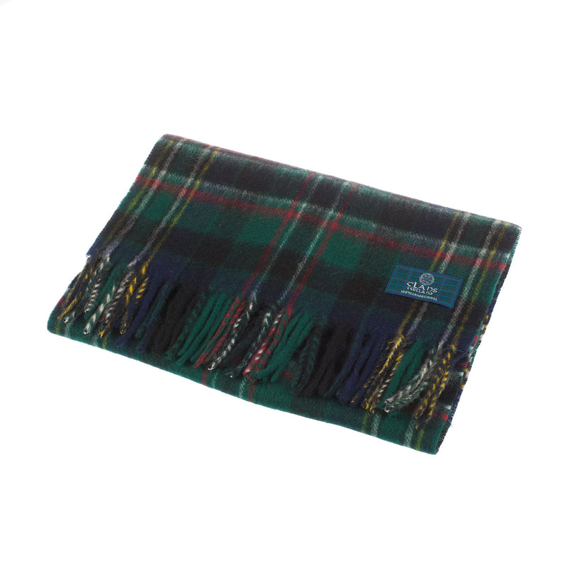 Clans Of Scotland Pure New Wool Scottish Tartan Scarf Scott Green