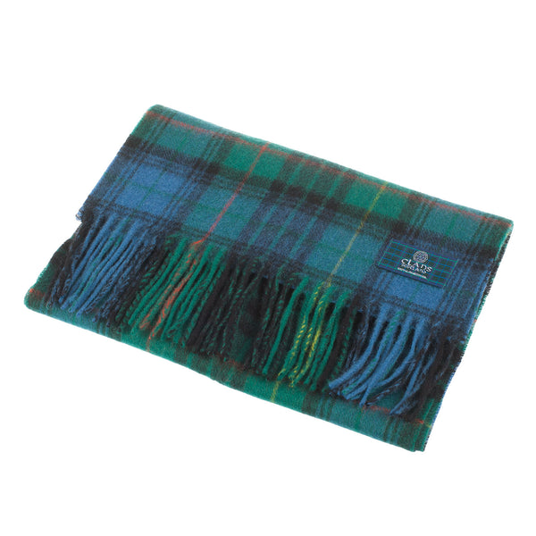 Lambswool Scottish Tartan Clan Scarf Stewart Hunting Ancient